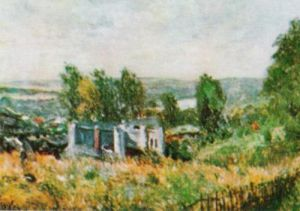 Landscape by Alfred Sisley