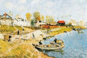 Sand on the Quayside, Port-Marly by Alfred Sisley
