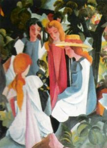 Four Girls by August Macke