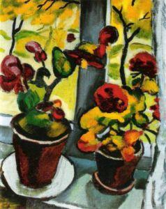 Blumen am Fenster by August Macke