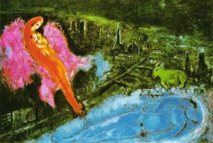Bridges over the Seine by Marc Chagall