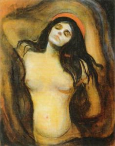 Madonna, 1894-95 by Edvard Munch