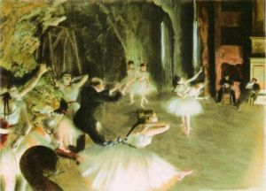The Rehearsal of the Ballet on Stage, c.1878 by Edgar Degas