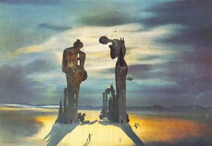 Réminescence Archéologique de l'Angélus de Millet, 1936 by Salvador Dali