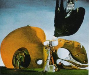 Birth of Liquid Desires by Salvador Dali