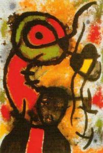 Personnage et Oiseau by Joan Miro