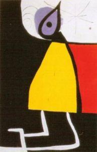 Dona en la Nit, 1973 by Joan Miro