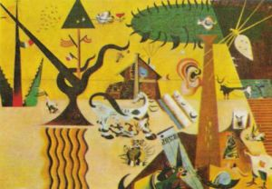 Terre Labouree, 1923 by Joan Miro