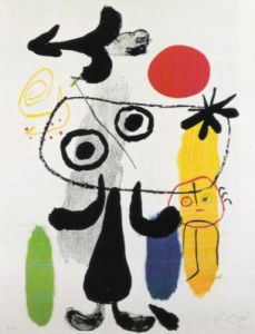 Figure against Red Sun II, 1950 by Joan Miro