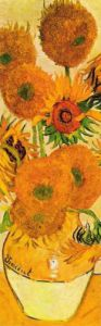 Sunflowers on Gold (Detail 1) by Vincent Van Gogh