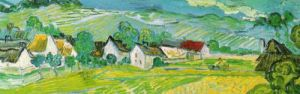 Sunny Meadows, Auvers (detail) by Vincent Van Gogh