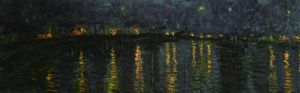 Starlight Over The Rhone (detail) by Vincent Van Gogh