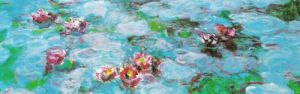 Waterlilies (detail) by Claude Monet
