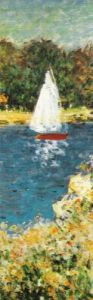 The Basin at Argenteuil (detail) by Claude Monet