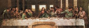 The Last Supper (detail) by Leonardo da Vinci