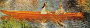 The Seine at Asniers (detail) by Pierre Auguste Renoir