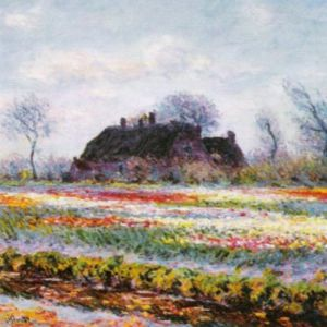Tulip Field at Sassenheim (detail) by Claude Monet