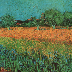 View of Arles with Irises (detail) by Vincent Van Gogh
