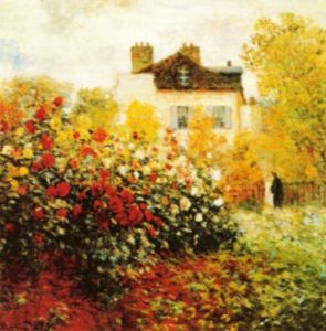 The Artist's Garden in Argentuil (detail) by Claude Monet