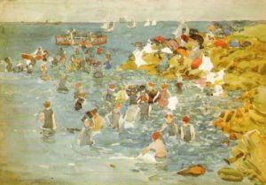 Bathing, Marblehead by Maurice Prendergast