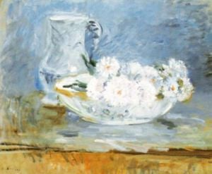 White Flowers in a Bowl by Berthe Morisot