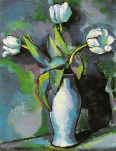 Three White Tulips by Charles Sheeler