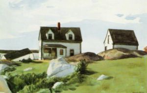 Houses at Squam Light, Gloucester by Edward Hopper