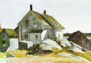 House at the Old Fort, Cape Ann by Edward Hopper