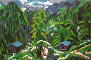 Mountain Landscape from Clavadel by Ernst Ludwig Kirchner