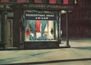 Drug Store by Edward Hopper