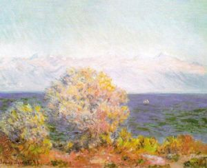 Cap d'Antibes, Mistral by Claude Monet