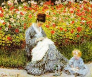 Camille Monet with a Child by Claude Monet