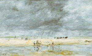 Figures on the Beach by Eugene Louis Boudin