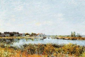 Saint-Mammes: Morning by Alfred Sisley