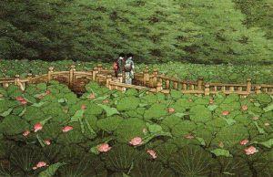 Summer, Benton Shrine, Shiba by Kawase Hasui