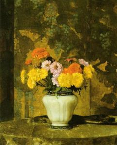 Zinnias and Marigolds, 1933 by Hermann Dudley Murphy