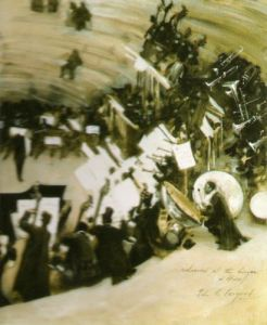 Rehearsal of the Pasdeloup Orchestra by John Singer Sargent