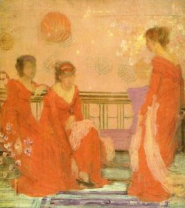 Harmony in Flesh Colour and Red by James McNeil Whistler