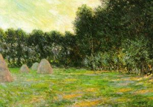 Meadow with Haystacks near Giverny by Claude Monet