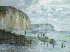 Cliffs of the Petites Dalles by Claude Monet