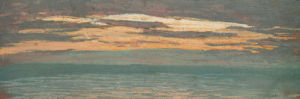 View of the Sea at Sunset by Claude Monet