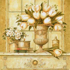 Floral Deco I by Hervé Libaud