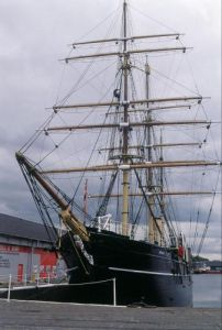 SS Discovery old Antartic expedition ship, Dundee 1989 by Mirrorpix