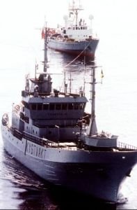 Whaling ship, 1994 by Mirrorpix