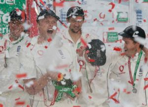 The Ashes 2005 - Tickertape by Mirrorpix