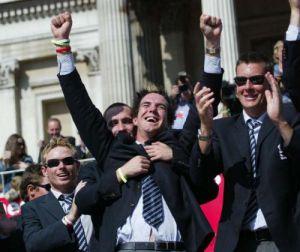 The Ashes 2005 - Pietersen celebrates by Mirrorpix