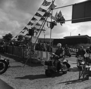 Scooter rally, 1958 by Mirrorpix