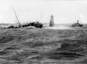 The wreck of the Berlin off the Hook of Holland,1907 by Mirrorpix