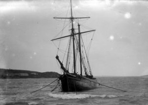 Ship in Tresco harbour, 1923 by Mirrorpix