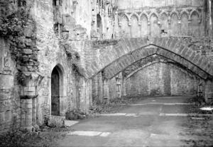 The ruins of Glastonbury Abbey, 1923 by Mirrorpix